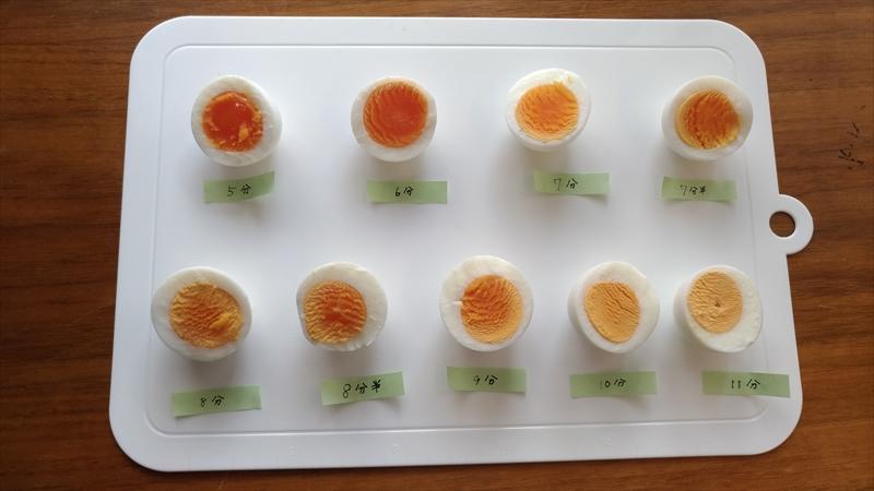 固 茹で ゆで 卵 水 から